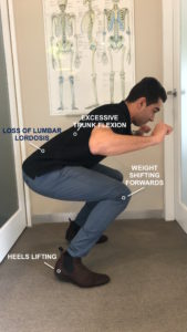 incorrect lateral squat